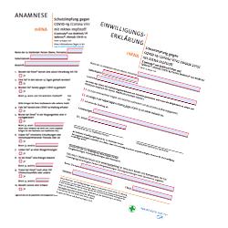 Anamnese – Einwilligung